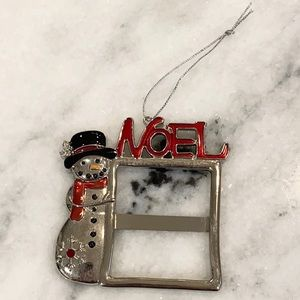 Snowman Picture Frame Christmas Tree Ornament